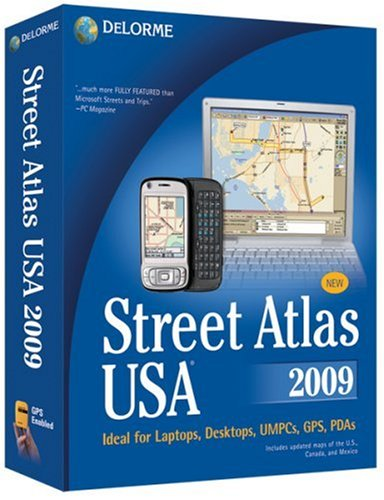 DeLorme Street Atlas USA 2009 [OLD VERSION] Earthmate Gps Receiver