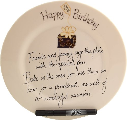 Dreamair 90th Birthday Gift: Signature Plate Box (Round)]()