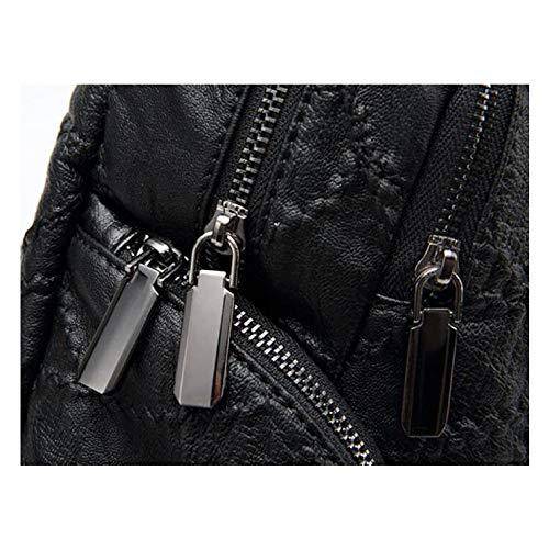 Simple Dos à De Sac Sac Tempérament Main De Dos Couture Voyage Sac D'étudiant De Dames à à Black De Mode De Nouveau Sac PqwfSxTw