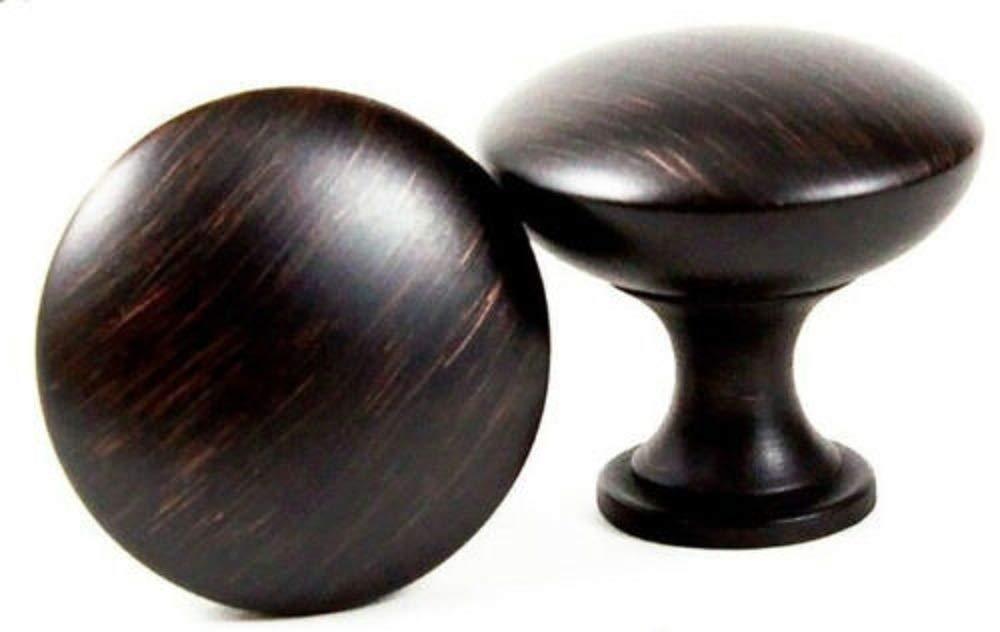 1-1//4 Diameter 25 Pack Oil Rubbed Bronze Kitchen Cabinet Hardware Round Drawer Knob