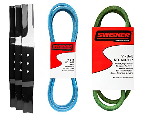 Swisher 21054 Finish Cut Service Kit Replacement Parts, Black