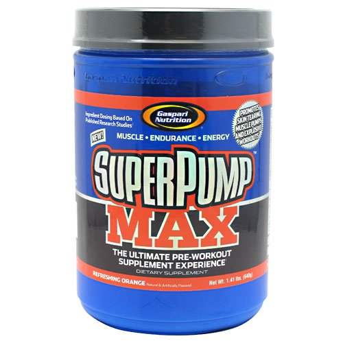 Super Pump Max, Orange, 800 Grams, From Gaspari