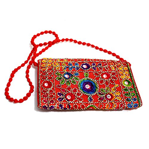 Body Rajasthan Handicraft Indian Embroidered All from Bag Day Bag Cross Clutch 6BTzwnBXq