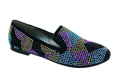 Scarpa Stile Helis Balletto Con Dettagli In Strass Multicolor