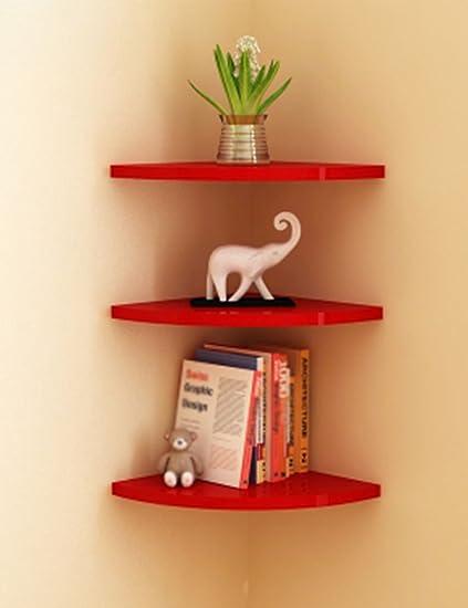 Book Shelf Corner Clapboard Creative Sector Bookshelf Wall Furniture Hanging Stand