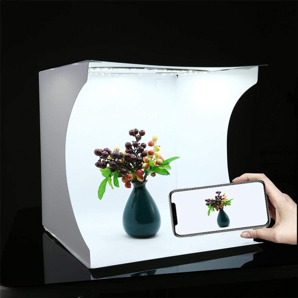 Photo Studio Light Box LED Mini Portable Photo Studio Pliable Photo Props /Équipement /Éclairage Studio Tir Tente Box Kit avec 6 Couleurs D/écors