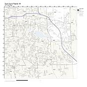 Amazon Com Zip Code Wall Map Of East Grand Rapids Mi Zip Code Map