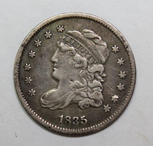 Bust Silver Dime (1835 P Silver Capped Bust Half Dime 5c Extremely Fine)