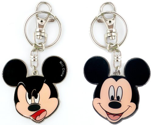 Disney Mickey Two Sided Colored Pewter Key Ring -