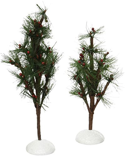 Department 56 Accessories for Villages Berry Pine Trees Accessory Figurines