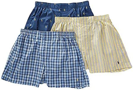 Polo Ralph Lauren Men`s 3-Pack Classic Fit Packaged Woven Boxers