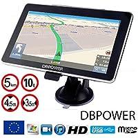 Navigateur 7 Pouces DBPOWER-772 GPS Navigation Europe 2018 Pour Poids Lourds Camion Et Voiture Truck HD
