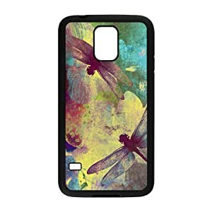 Dragonfly Vintage Design Solid Rubber Case for SamSung Galaxy S5,diy cover case s5-linda18