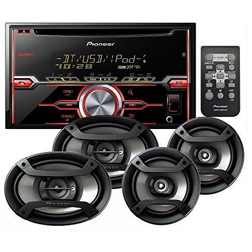 PIONEER FH-X720BT CD RECEIVER CD BLUETOOTH + PIONEER TS-695P 3-WAY 230 WATT SPEAKER SET+ PIONEER TS-165P 2-WAY 200 WATT SPEAKER - Car With Changer Stereo Cd