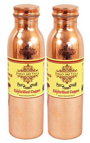 IndianArtVilla Joint Free Leak Proof Copper Water Bottl