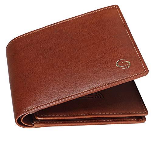 GETOREE Teak RFID Blocking Leather Wallet for Men (TAN)