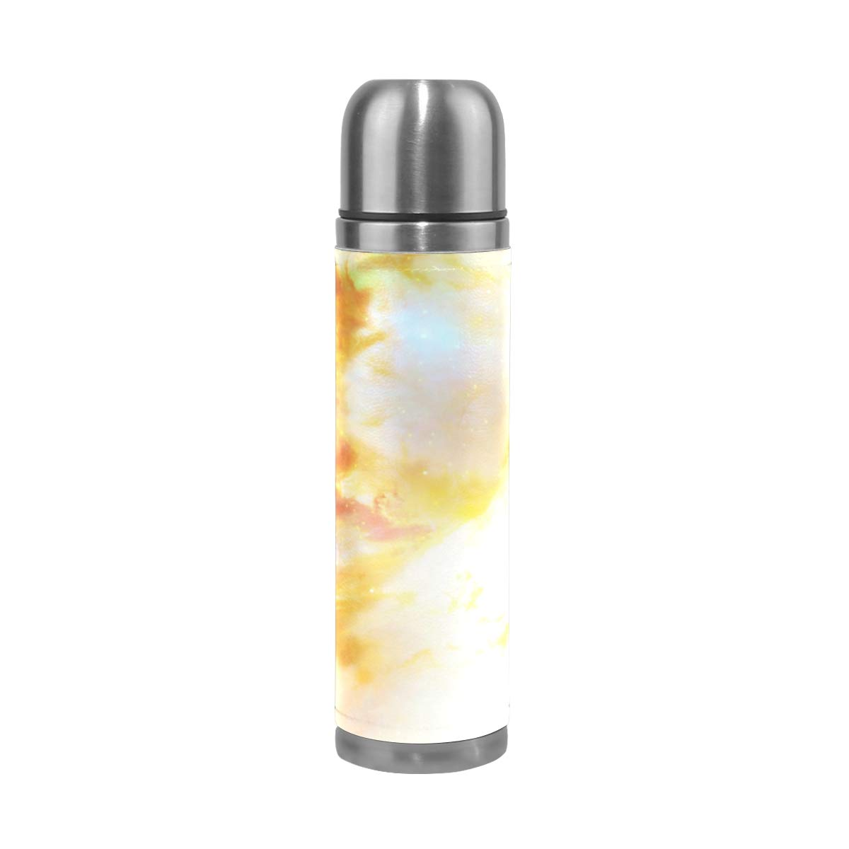 OuLian Water Bottle Who Your Spirit Animal Travel Insulated Stainless Steel Water Bottles Leak Proof Double Wall Thermos Leather Cover 17Oz (500ml)