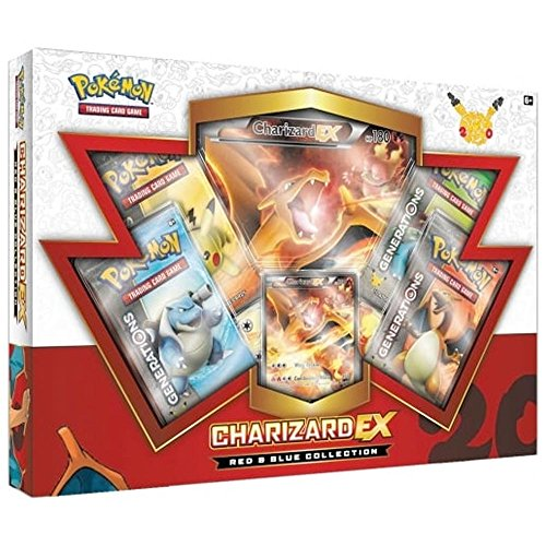 TCG: Charizard-EX Collection Card Game, Red/Blue (Discontinued by (Pokemon Trading Figure Game)