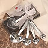 42 Stainless Steel Heart Shaped Measuring Spoons