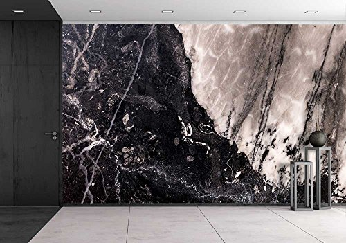 wall26 - Closeup surface marble wall texture background - Removable Wall Mural | Self-adhesive Large Wallpaper - 66x96 inches