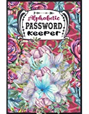Password Keeper: Password Book with Alphabetical Tabs for Computer, Network, Mobile & Social Media | Large Print Address book Tabbed | Over 400 Entries Sorted Alphabetically with Icons | Home & Office Password Vault