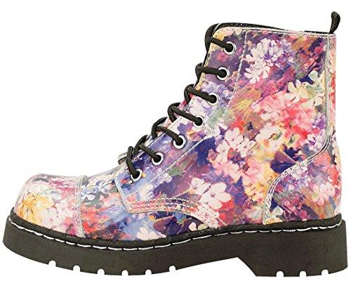 k Eye Multi Boots 7 Colour u Shoes Leather Women's T Anarchic Floral 5xaOg6xwq