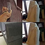 2 Pcs of Cat Couch Plastic Protectors Vinyl Scratch Guards with Pins for Furniture