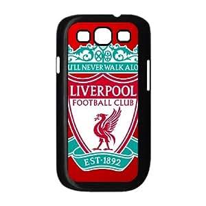 Liverpool Logo 011 funda Samsung Galaxy S3 9300 Negro de la cubierta del teléfono celular de la cubierta del caso funda EOKXLKNBC32421