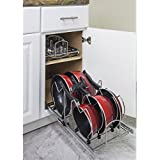 "Hardware Resources Pots and Pan Orgainzer for 15"" Base Cabinet MPPO15-R by Cabinet Organizers"