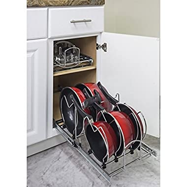 Hardware Resources Pots and Pan Orgainzer for 15  Base Cabinet MPPO15-R by Cabinet Organizers