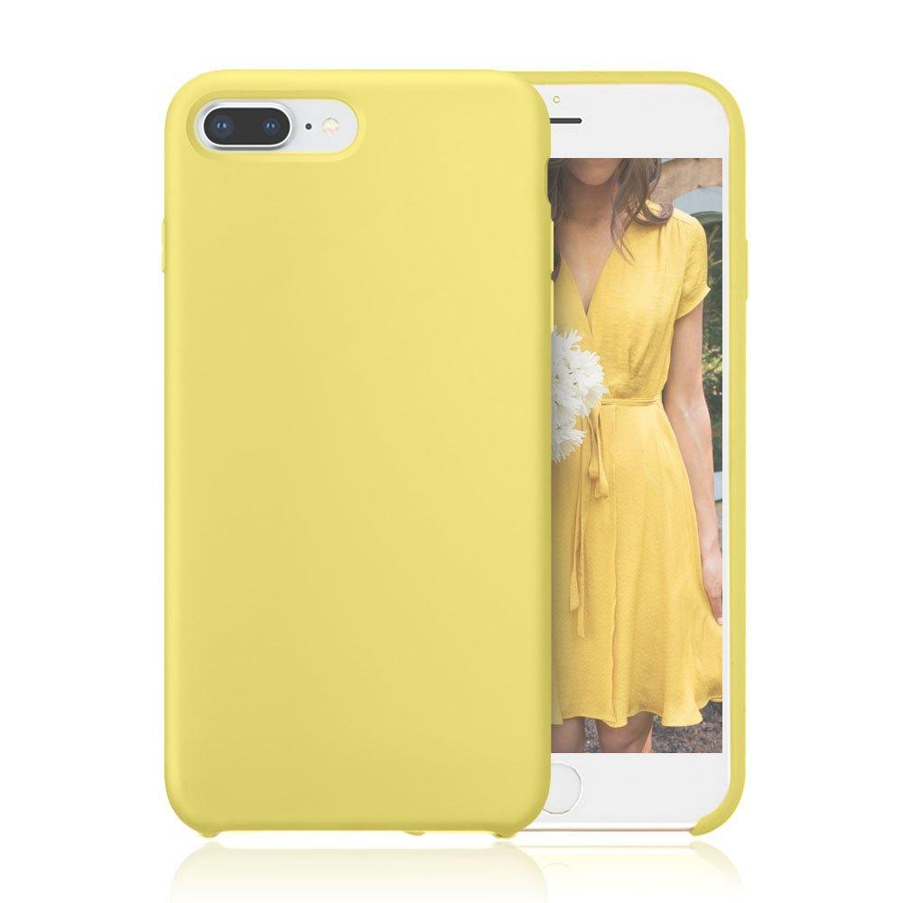 yellow silicone iphone 8 plus case