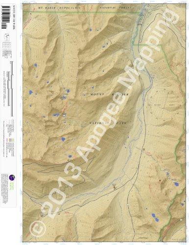 Mt Baker National Park - White River Park, Washington 7.5 Minute Topographic Map - Waterproof Paper (amTopo)