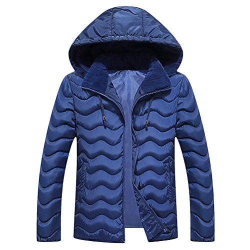Zhhlinyuan Mens De los hombres Father s Teenagers Long Sleeve Warm Padded  Jacket Chaqueta Halloween Gift Big 54e37f2cf602