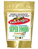 Virgin Extracts (TM) Pure Premium Freeze Dried Organic Pumpkin Powder 4:1 Extract Powder Concentrate SuperFood (4 x Stronger) 16oz Pouch
