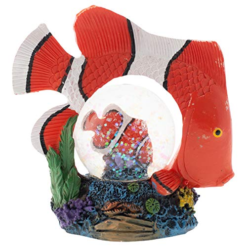 - Elanze Designs Striped Clown Fish Figurine 45MM Glitter Water Globe Decoration