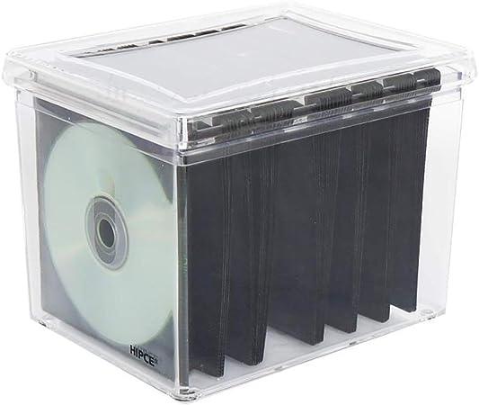 GWXJZ Estanterías para CD DVD Creative CD Box Estuche de DVD Transparente con página en Banda,
