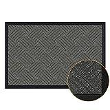 """Magicfly Door Mat, 35""""x 23"""" Premium Rubber Doormat for Indoor & Outdoor Use"""