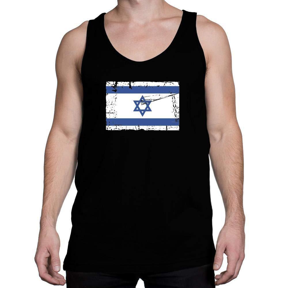 Idakoos Israel Vintage Flag Tank Top