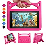 Fire HD 8 Tablet Case, Fire 8 HD Case for Kids - SHREBORN Light Weight Kids-Proof Case Cover with Stand for Amazon Fire HD 8 inch Dispaly Tablet(8th Gen 2018/7th Gen 2017 and 6th Gen 2016) - Rose
