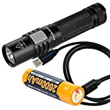 Fenix E35 Ultimate Edition-2016 (E35UE) Compact 1000 Lumen LED Flashlight PLUS USB Rechargeable Fenix 18650 Battery