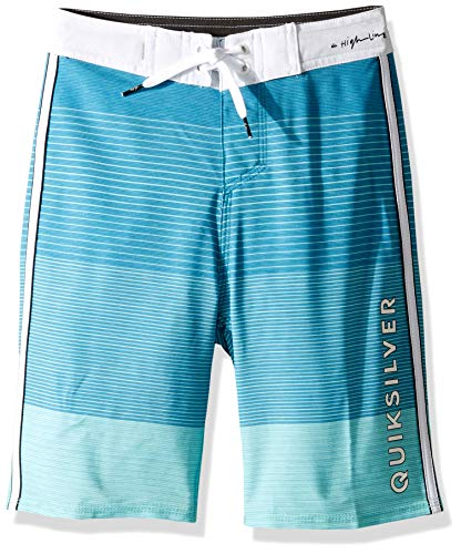 Quiksilver Boys Highline Massive Youth 18 Boardshort Swim Trunk, Aqua Splash, 24/8