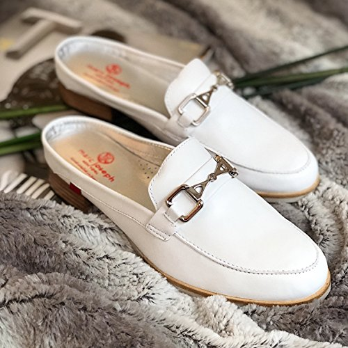 NY Casual Napa Made Womens Park in Fashion White Brazil Marc Shoes Leather Mule Joseph Genuine Ave qwBqxTXpP4