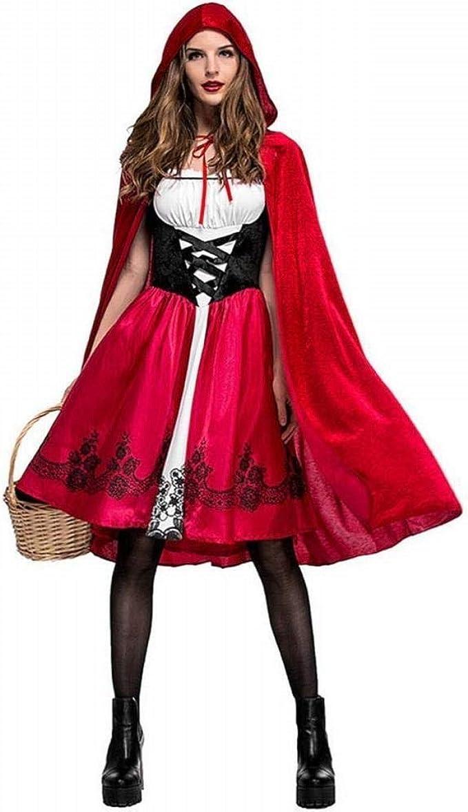 Adulto Caperucita Roja Capa Cape Fancy Dress Mujeres Dama Disfraz ...