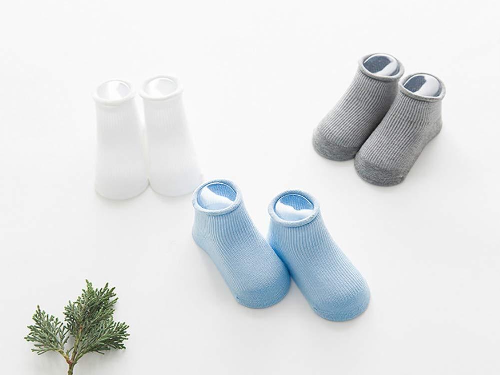Hosaire 3 Pares Color s/ólido Rizado Calcetines algod/ón Tejer Beb/é Ni/ños Ni/ñas Antideslizante Calcetines Tobilleros Calcetines Planos Casual Calcetines Transpirables