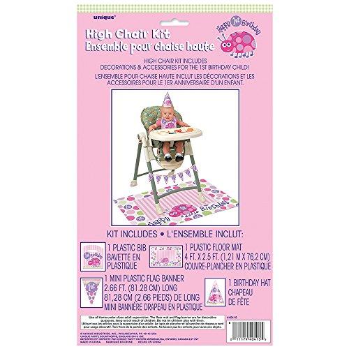 Ladybug 1st Birthday High Chair Decorating Kit, 4pc