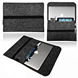 NXET® Laptop Sleeve for 13 Inch Notebook New MacBook Air/Pro/Pro Retina/Pro 2016/12.9-Inch iPad Pro/Acer/Lenovo with iPhone/iPad Mini Case Cover (13 Inch, Dark Grey)