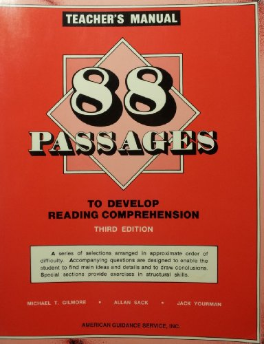 88 Passages to Develop Reading Comprehension: Teacher's Manual (Develop Reading Comprehension)