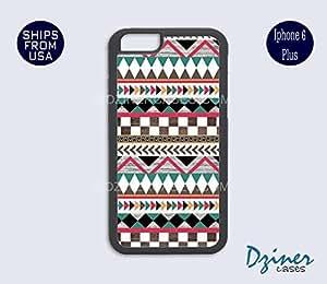 iPhone 6 Plus Case - Wood Aztec Tribal iPhone Cover
