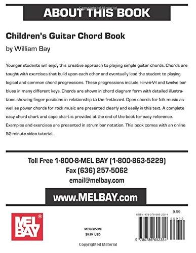 Amazon.com: Children\'s Guitar Chord Book (9780786692354): William ...