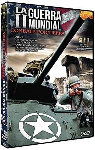 La Segunda Guerra Mundia- Combate Por La Tierra (Pack 6 Movies : Attack, Tobruk, Breakthrough, Eight Iron Men, The Bridge At Remagen, Battleground) European Import Region 2